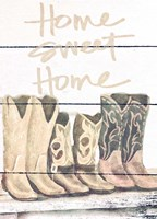 Home Sweet Home Boots in Shape Fine-Art Print