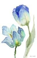 Teal and Lavender Tulips III Fine-Art Print