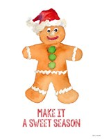 Holiday Gingerbread Man I Fine-Art Print