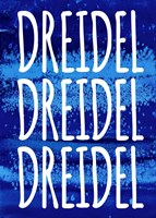 Dreidel Blue Chant Fine-Art Print