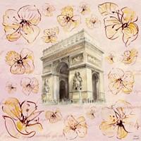 Golden Paris On Floral II Fine-Art Print