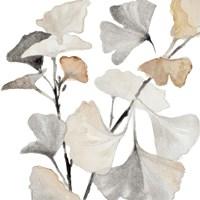 Neutral Ginko Stems I Fine-Art Print