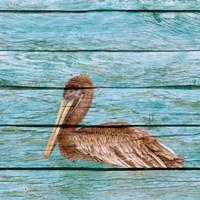 Wood Pelican I Fine-Art Print