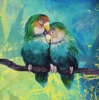 Tropical Birds in Love I Fine-Art Print