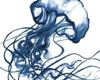 Jelly Fish In Blue Fine-Art Print