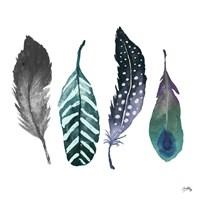 Indigo Feathers Fine-Art Print
