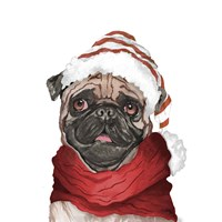 Holiday Pug Fine-Art Print