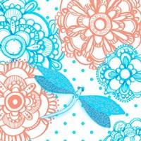 Mandala Dragonfly Square Fine-Art Print