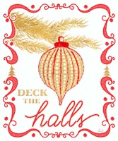 Gold and Red Christmas II Fine-Art Print