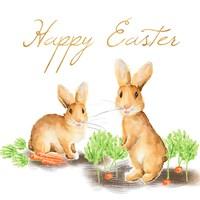 Happy Easter Spring Bunny I Fine-Art Print