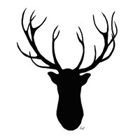 Deer Head Silhouette Fine-Art Print