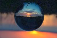Sunset Droplet View Fine-Art Print
