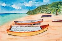 Canoes on the Beach Fine-Art Print