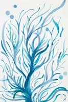 Blue Dancing Tree Fine-Art Print