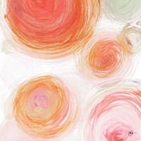 Orange Contempo Light Circles Fine-Art Print