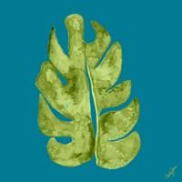 Leaf On Teal II Fine-Art Print