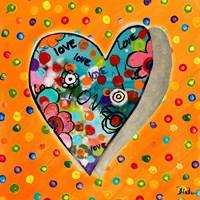 Neon Hearts of Love IV Fine-Art Print