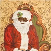 African American Sitting Santa Fine-Art Print