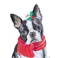 Holiday Dog II Fine-Art Print