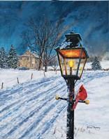 Winterberry Lamppost Fine-Art Print