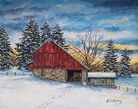 Stovers Mill Barn Fine-Art Print