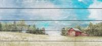 Countryside Town Farm Fine-Art Print