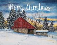 Merry Christmas Barn Fine-Art Print