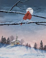 Winter Church Nights Fine-Art Print