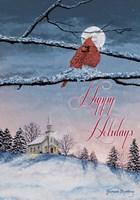 Happy Holiday Cardinal Fine-Art Print