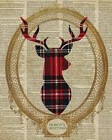 Holiday Tartan Deer I Fine-Art Print