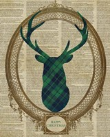 Holiday Tartan Deer II Fine-Art Print