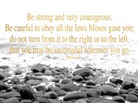 Be Strong and Courageous Fine-Art Print