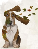 Basset Hound Windswept and Interesting Fine-Art Print