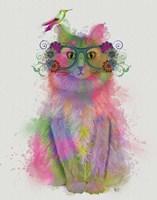 Cat Rainbow Splash 8 Fine-Art Print