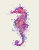 Seahorse Rainbow Splash Pink & Purple Fine-Art Print