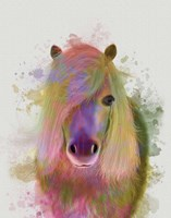 Pony 1 Portrait Rainbow Splash Fine-Art Print