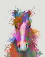 Horse Portrait 2 Rainbow Splash Fine-Art Print