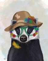 Badger and Flower Glasses Fine-Art Print