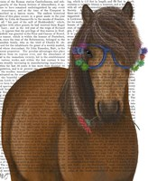 Horse and Flower Glasses Fine-Art Print