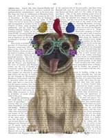 Pug and Flower Glasses Fine-Art Print
