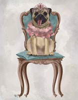 Pug Princess on Chair Fine-Art Print