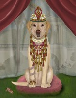 Yellow Labrador and Tiara, Full Fine-Art Print
