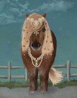 Horse Brown Pony with Bells, Full Fine-Art Print