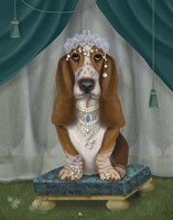 Basset Hound and Tiara Fine-Art Print