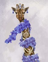 Giraffe with Purple Boa Fine-Art Print