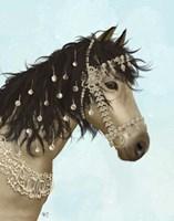 Horse Buckskin with Jewelled Bridle Fine-Art Print