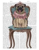 Pug Princess on Chair Fine-Art Print