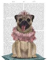 Pug Princess On Cushion Fine-Art Print