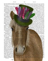 Horse with Feather Hat Fine-Art Print