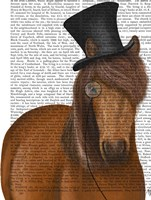 Horse Top Hat and Monocle Fine-Art Print